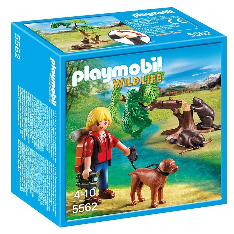Playmobil 5562. Mochilero con Castores