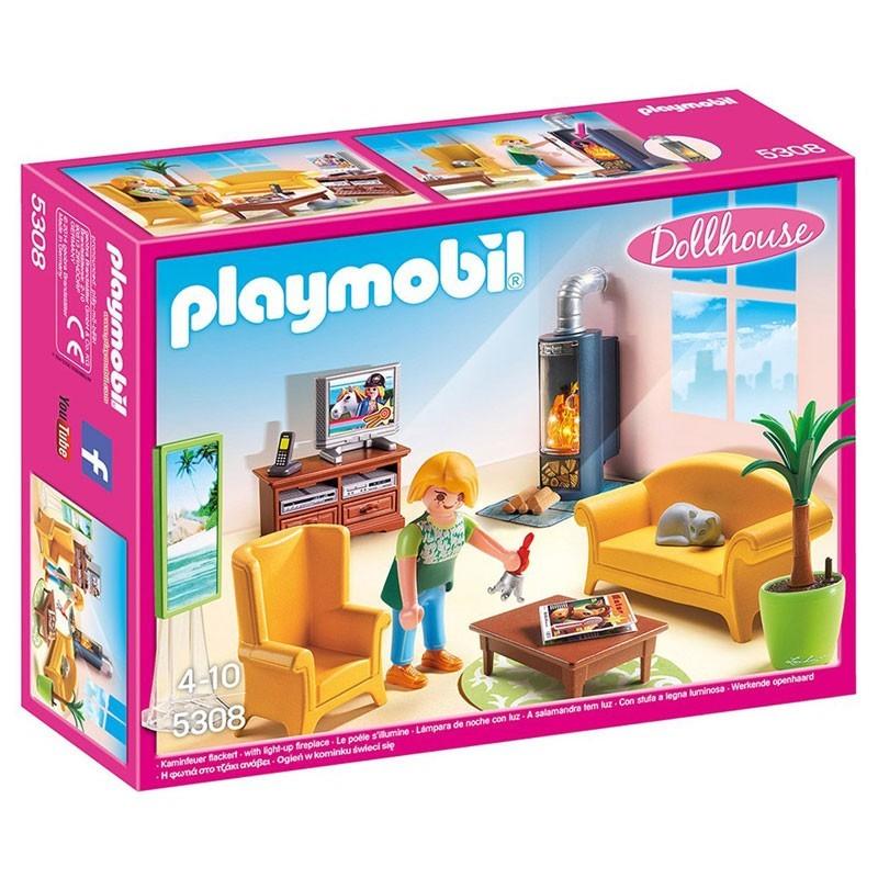 Playmobil 5308. Sala de Estar con Fuego