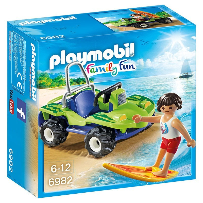 Playmobil 6982. Surfista con Buggy