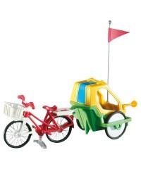 Playmobil 6388. Bicicleta con Remolque