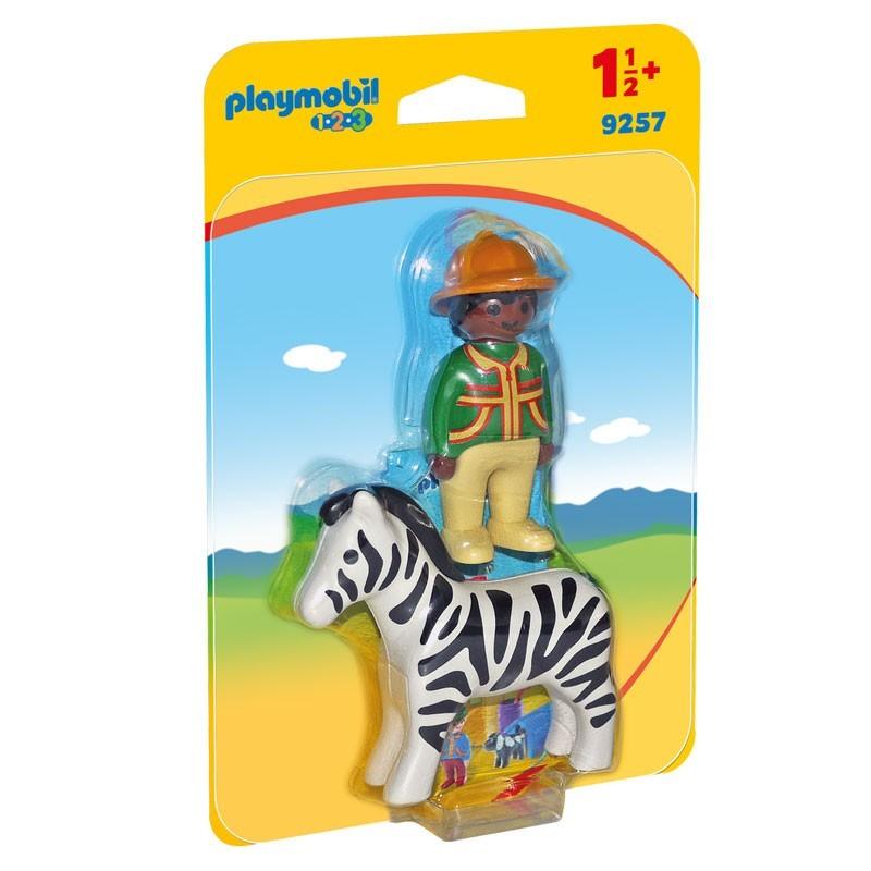 Playmobil 9257. Hombre con Cebra