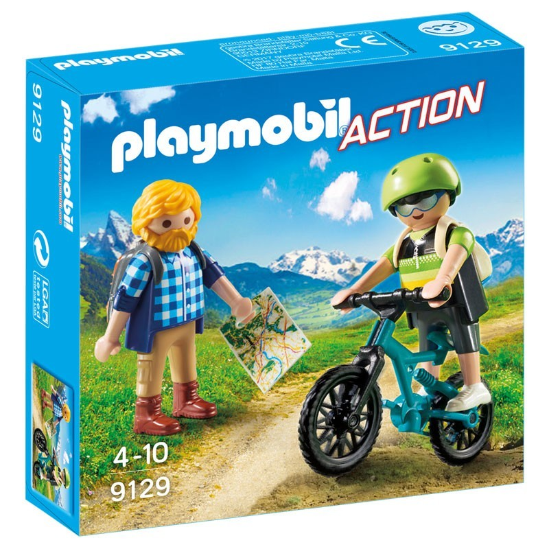 Playmobil 9129. Ciclista y Excursionista