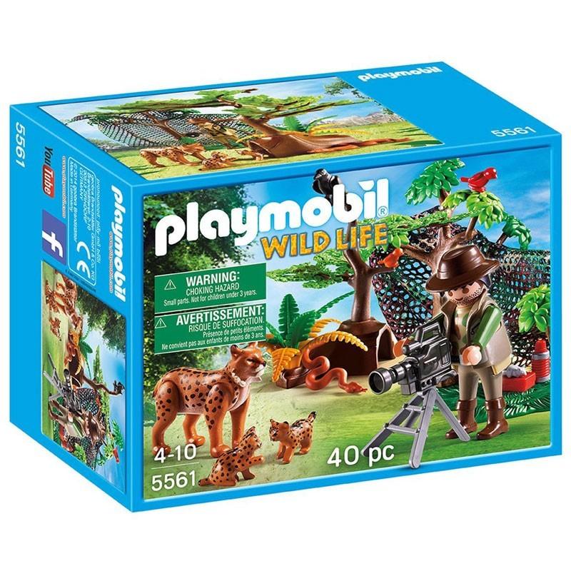 Playmobil 5561. Familia de Linces con Filmador