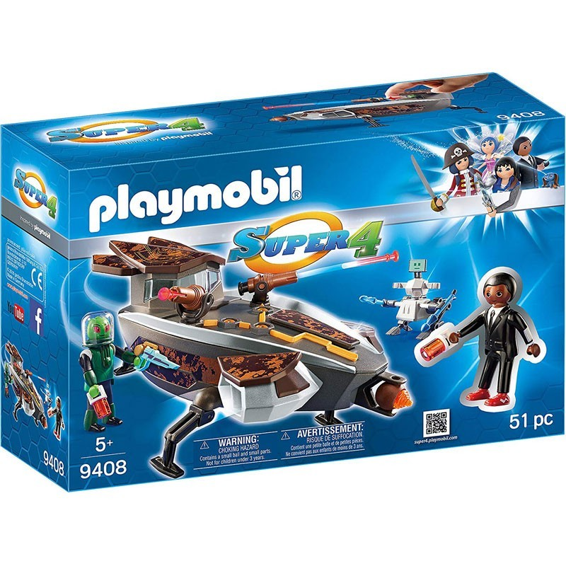 Playmobil 9408. Gene y Sykronian con Nave