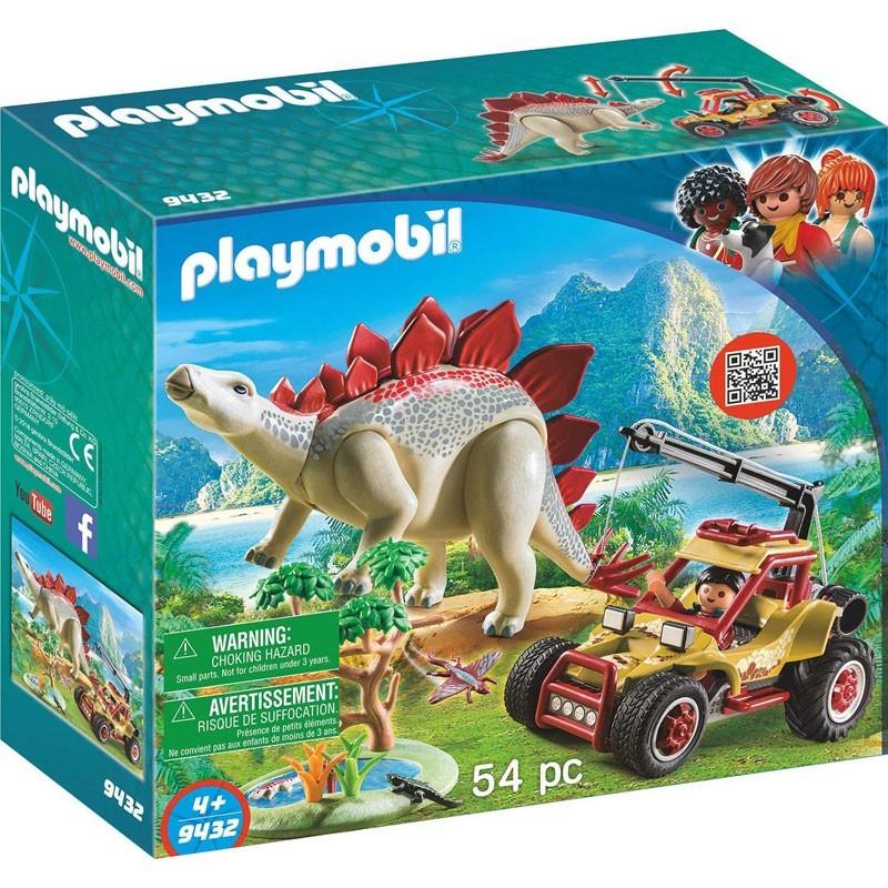Playmobil 9432. Vehículo Explorador con Estegosaurio