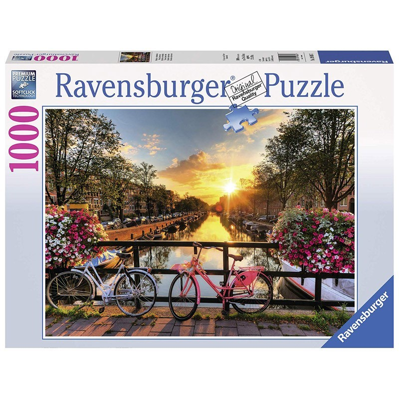 Ravensburger 19606. Puzzle 1000 Piezas Bicicletas Ámsterdam