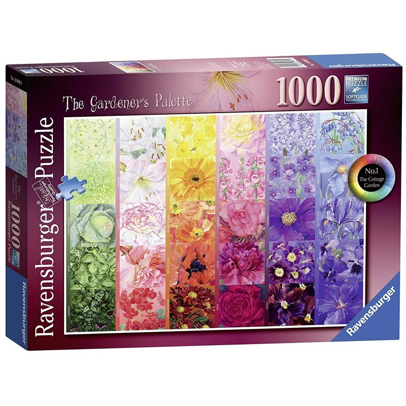 Ravensburger 19800. Puzzle 1000 Piezas Paleta del Jardinero