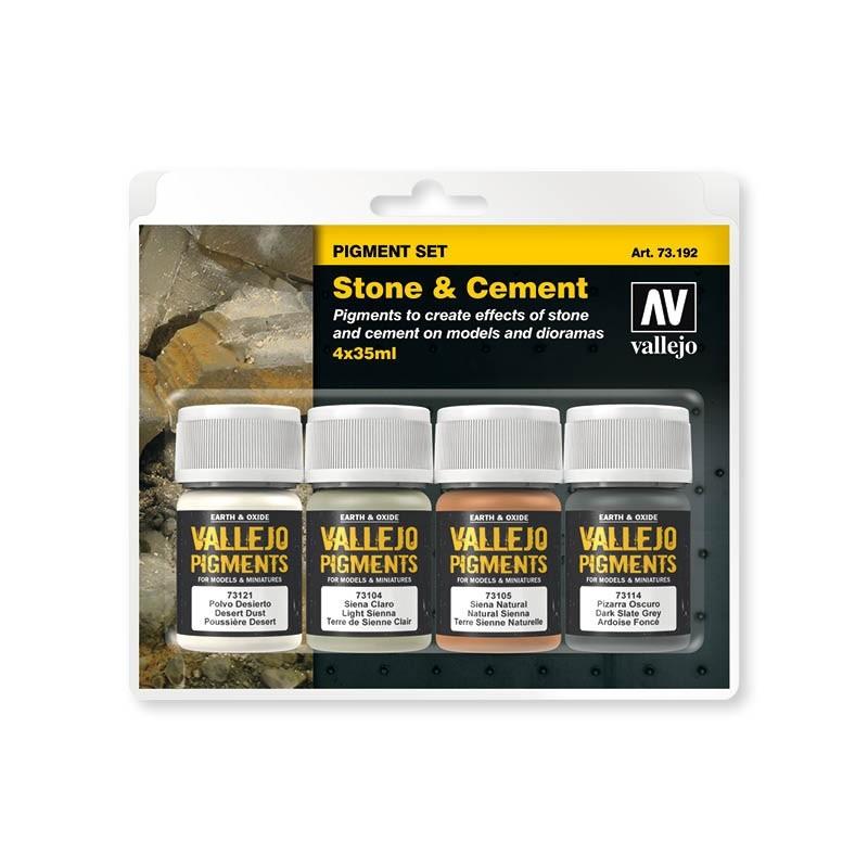 Vallejo 73192. Set Pigmentos Efecto Piedra y Cemento