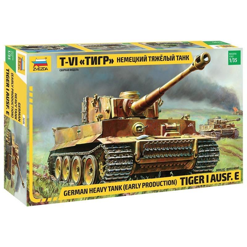 Zvezda 3646. 1/35 Tiger I Ausf. E Early