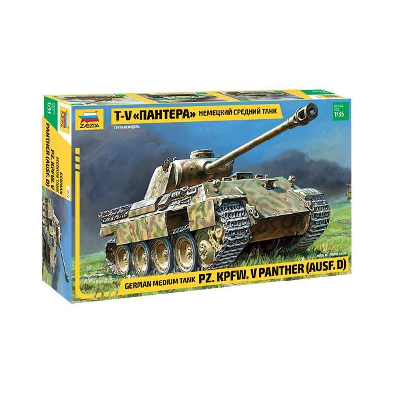 Zvezda 3678. 1/35 Panzer V Panther Ausf.D