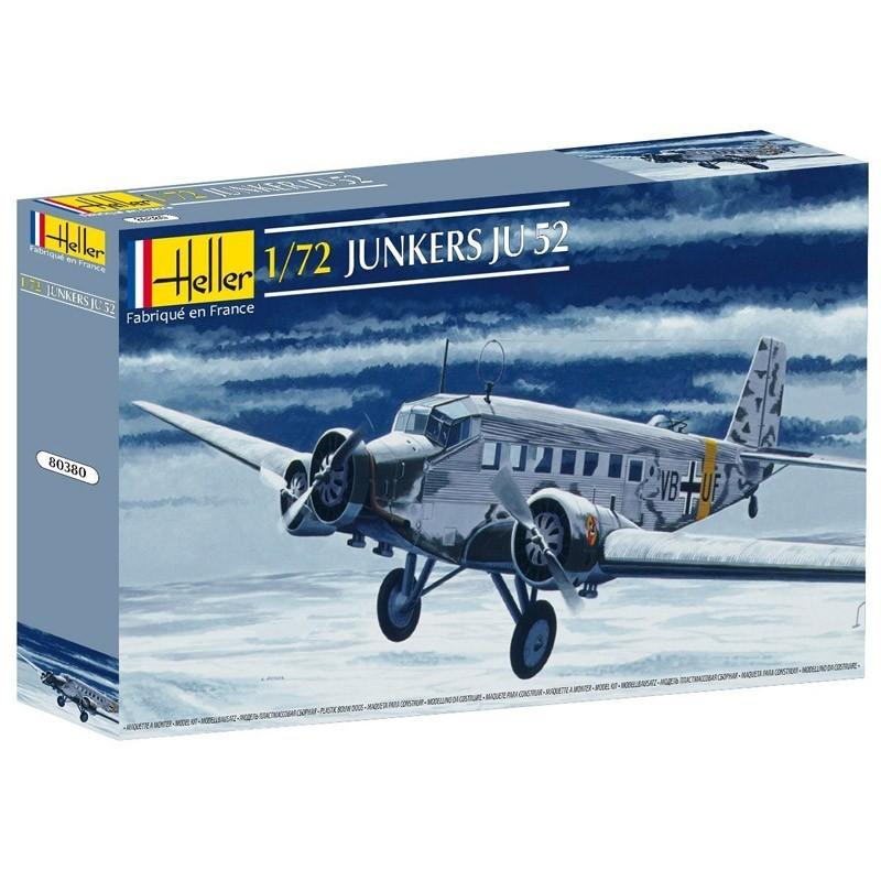 Heller 80380. 1/72 Avión Junkers JU 52/3M