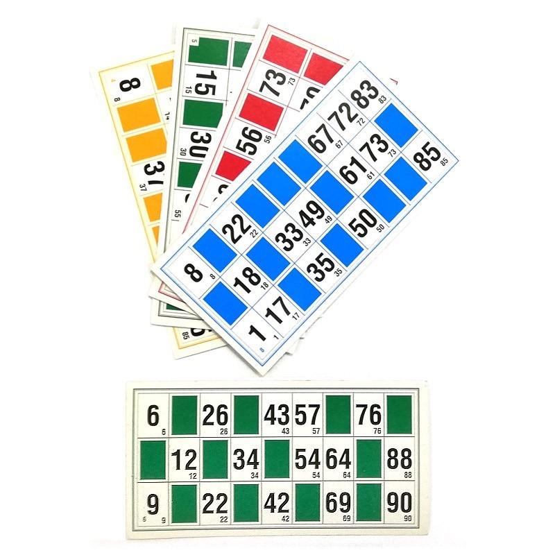 Pack 48 Cartones de Bingo
