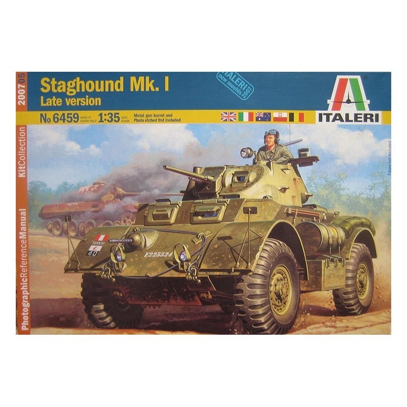 Italeri 6461. 1/35 Blindado Staghound Mk.I Late Version