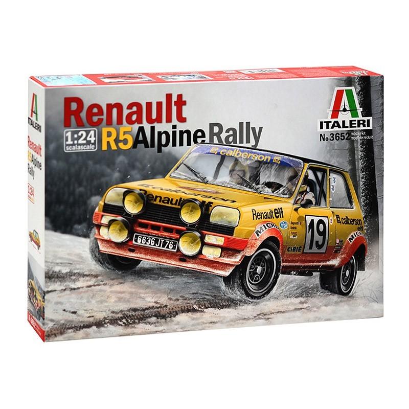 Italeri 3652. 1/24 Renault R5 Alpine Rally