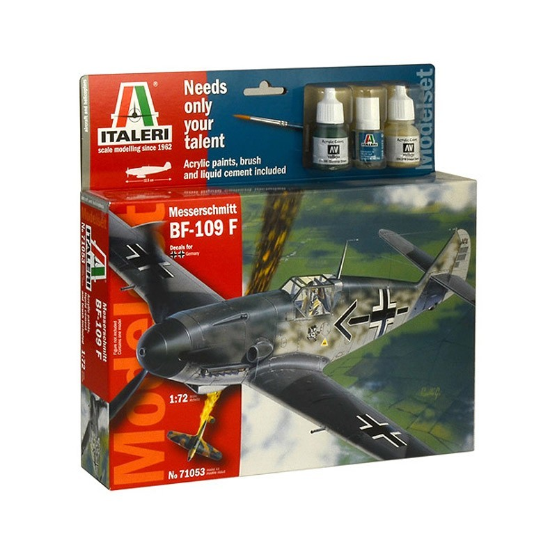 Italeri 71053. 1/72 Kit Messerschmitt BF-109 F