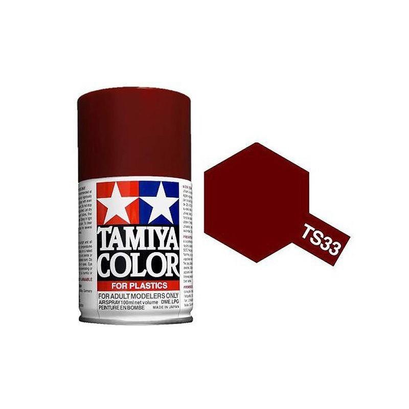Tamiya 85033. Spray TS-33 Pintura Esmalte Rojo Apagado