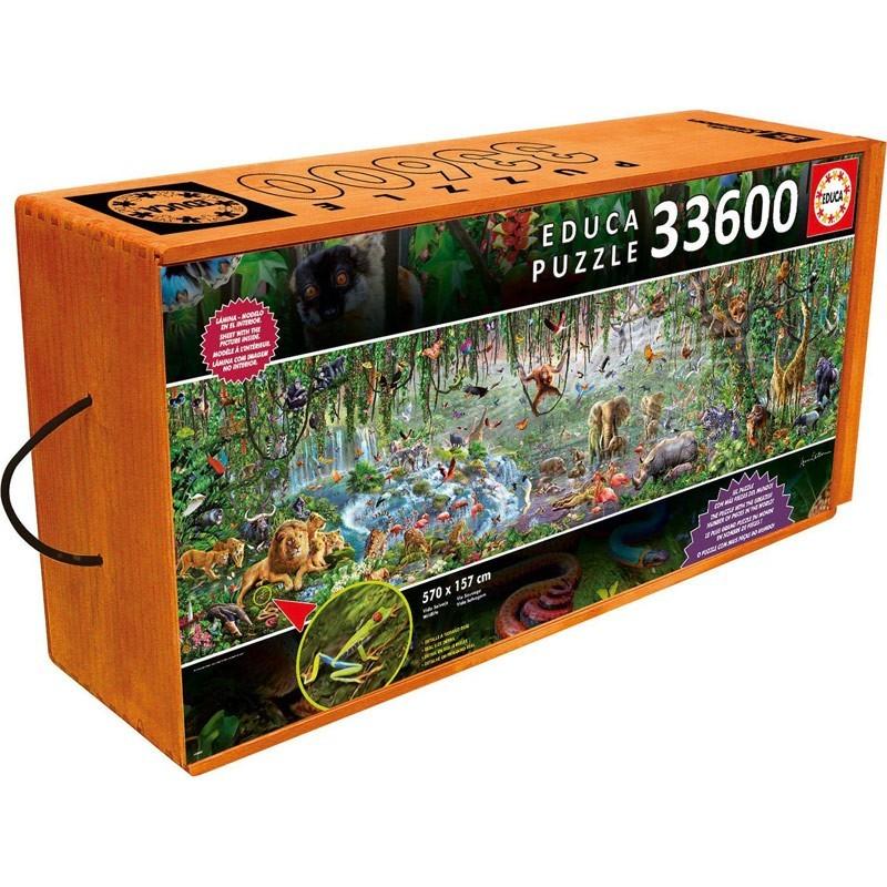 16066. Puzzle Educa Vidas Salvaje de 33600 piezas