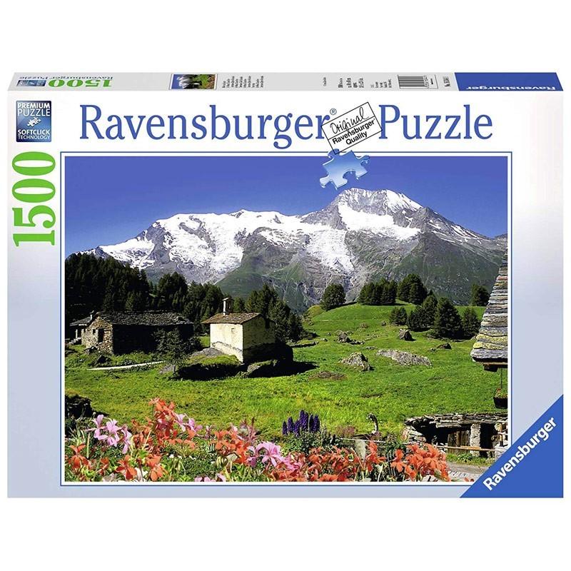 Ravensburger 16344. Puzzle 1500 Piezas Refugio Montaña Alpes