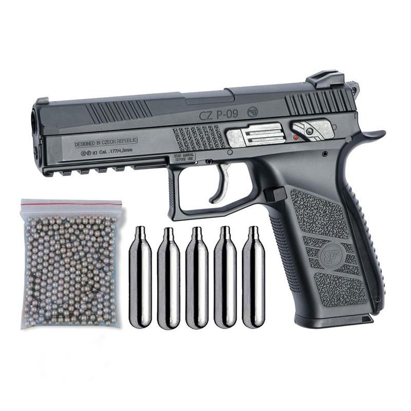 ASG 17537. Pack Pistola CZ P-09 Blowback 29318/38123
