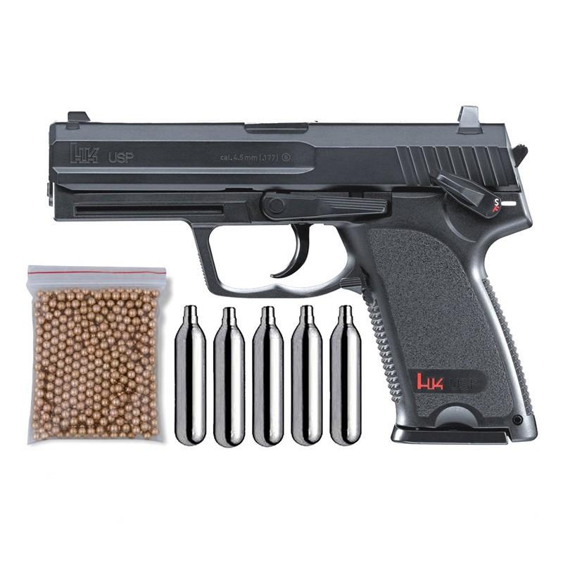 Umarex U58100. Pack Pistola H&K USP 29318/38123