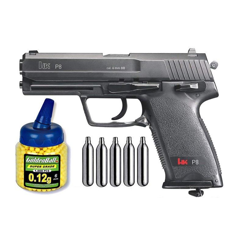 Umarex 25617. Pack Pistola H&K P8 29318/21993