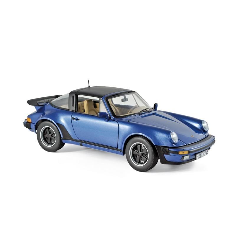 Norev 187663. 1/18 Coche Porsche 911 Turbo Targa 1987 Azul Metalizado