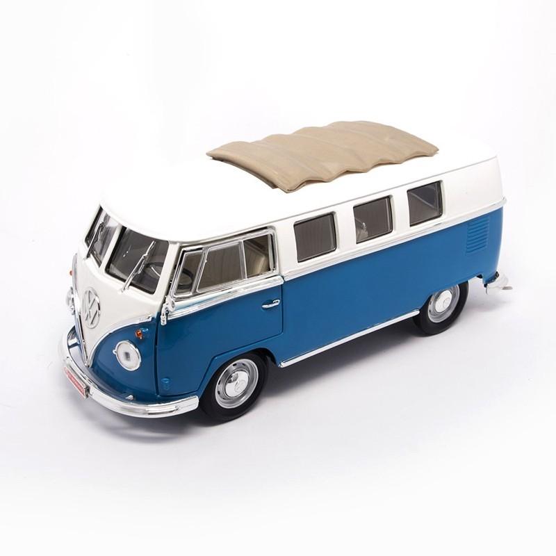 Yatming 92327B. 1/18 Coche Volkswagen T1 1962 Azul Blanco