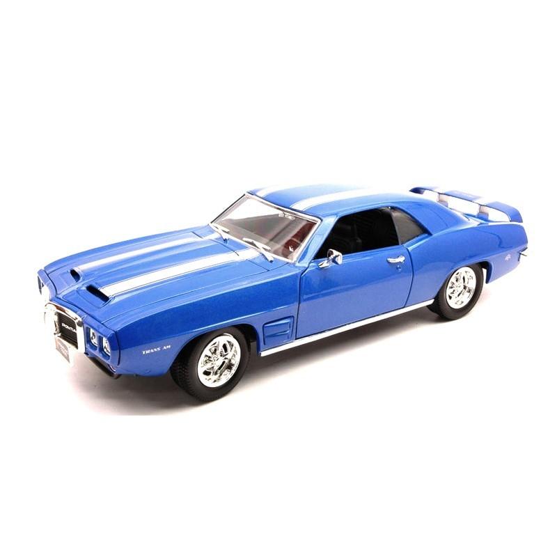 Yatming 92368. 1/18 Coche Pontiac Firebird 1969 Azul Blanco