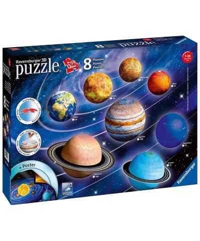 Ravensburger 11668. Puzzle 3D Sistema Solar 522 Piezas