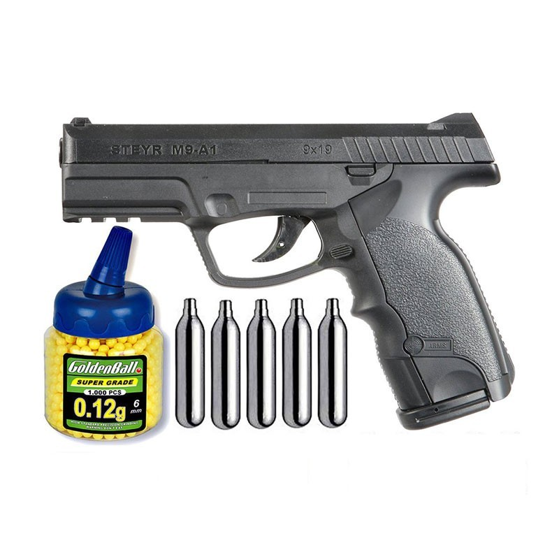 ASG 16090. Pack Pistola Steyr M9-A1 Co2 29318/21993