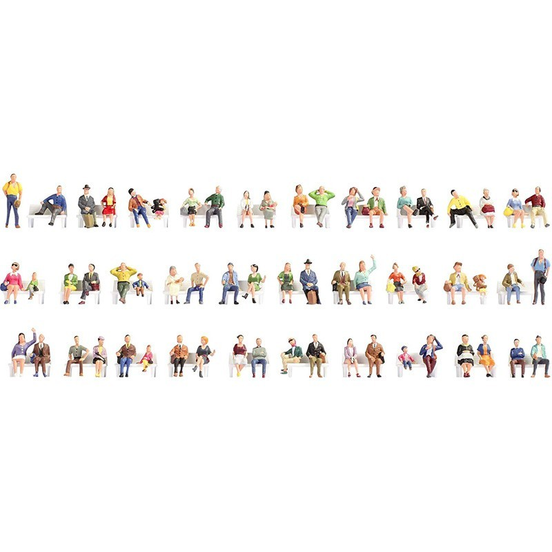 Noch 37071. Set 60 Figuras Personas Sentadas N