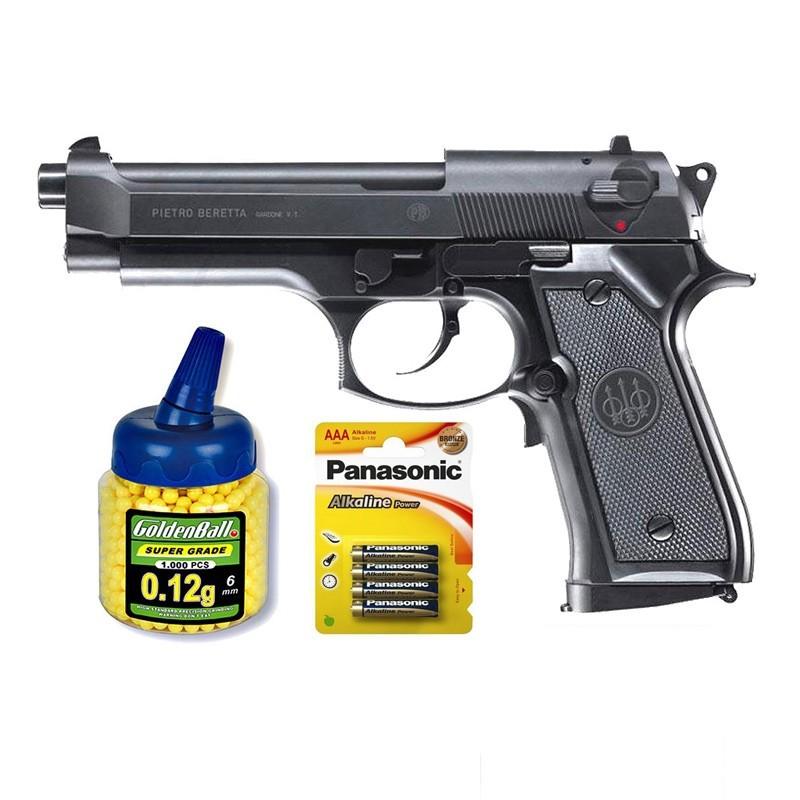 Umarex 25796. Pack Pistola Beretta M92FS 21993/50996