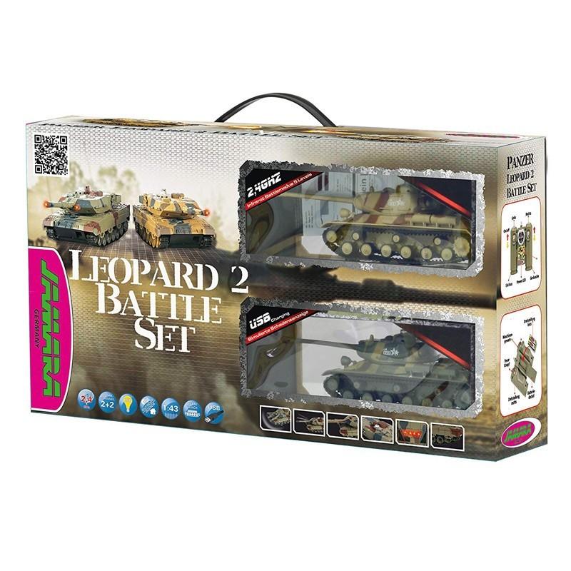 Jamara 403634. Pack Batalla 2 Tanques Leopard II