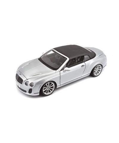 Bburago 11037. 1/18 Coche Bentley Continental Plata