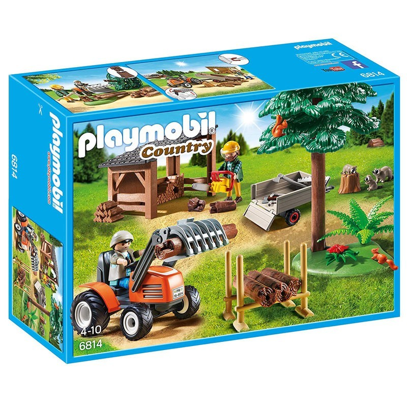 Playmobil 6814. Leñadores con Tractor