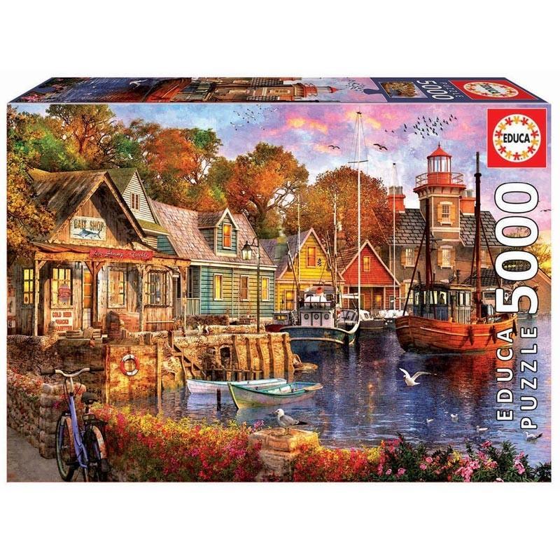 Educa 18015. Puzzle 5000 Piezas Atardecer en el Puerto