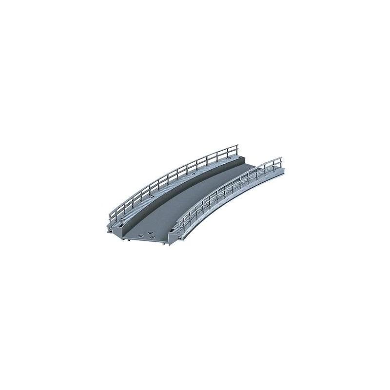 74613. Marklin Puente rampa curvada Radio 360mm y Angulo 30º