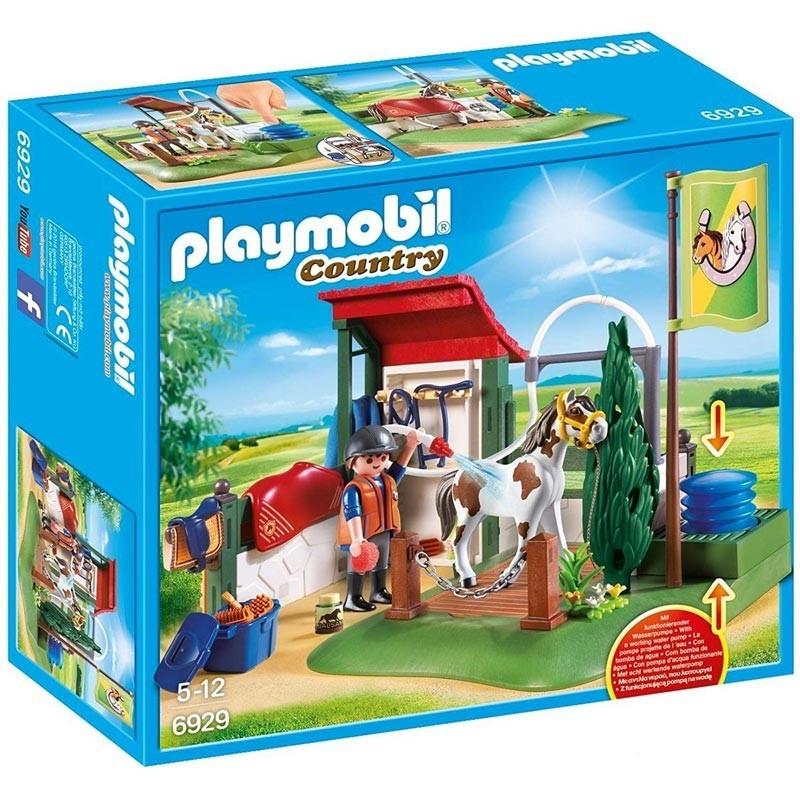 Playmobil 6929. Set Limpieza para Caballos