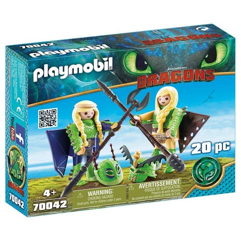 Playmobil 70042. Chusco y Brusca con Traje Volador