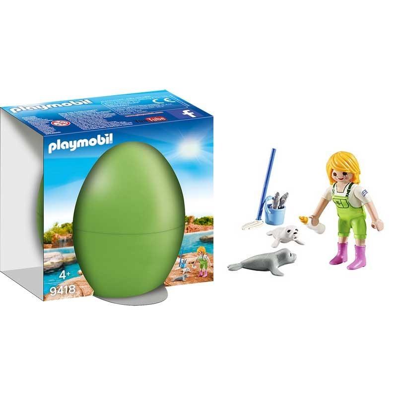 Playmobil 9418. Huevo Cuidadora de Focas