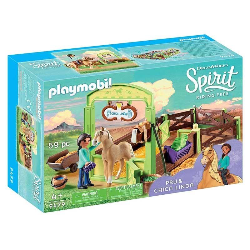 Playmobil 9479. Establo Pru y Chica Linda