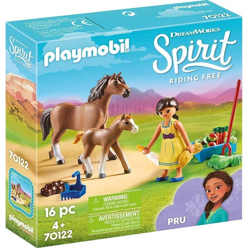 Playmobil 70122. Pru con Caballo y Potro