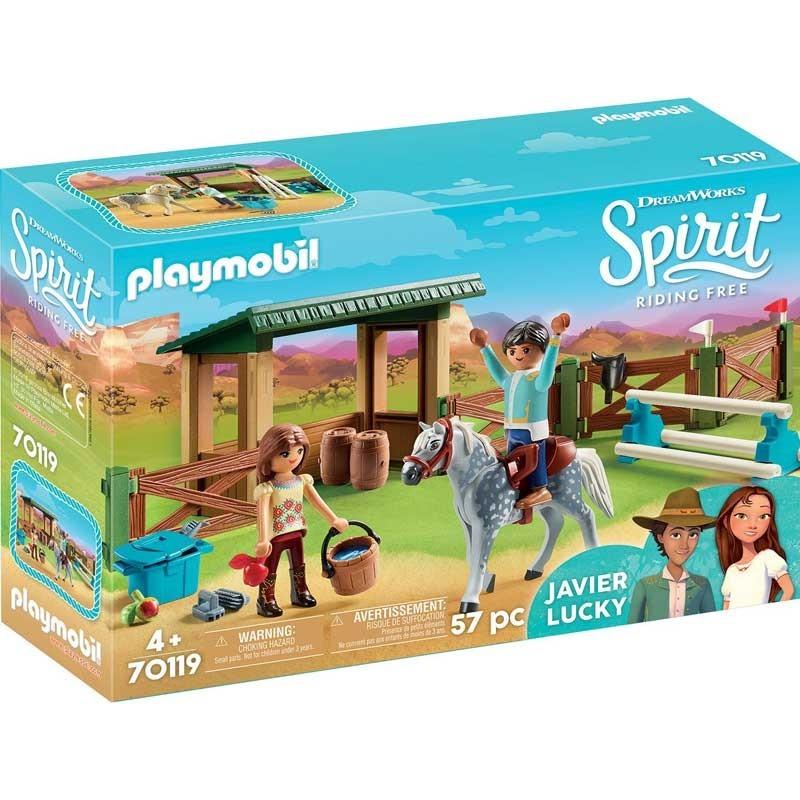 Playmobil 70119. Paddock con Fortu y Javier