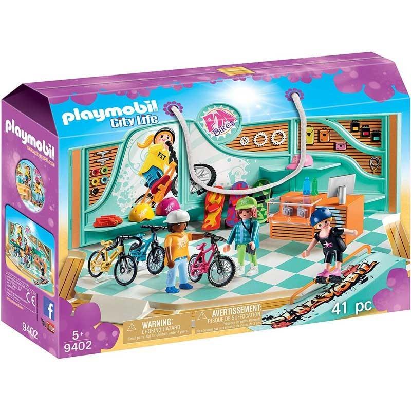 Playmobil 9402. Tienda de Bicicletas y Skate