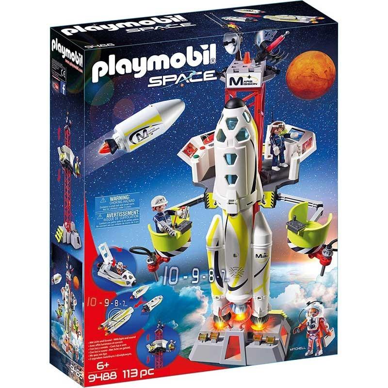 Playmobil 9488. Cohete con Plataforma de Lanzamiento