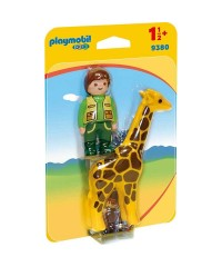Playmobil 9380. Cuidador con Jirafa