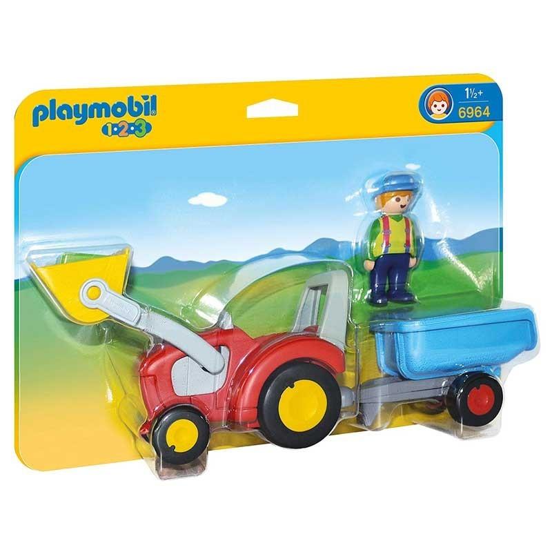 Playmobil 6964. Tractor con Remolque