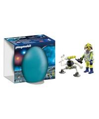 Playmobil 9416. Huevo Agente Espacial con Robot