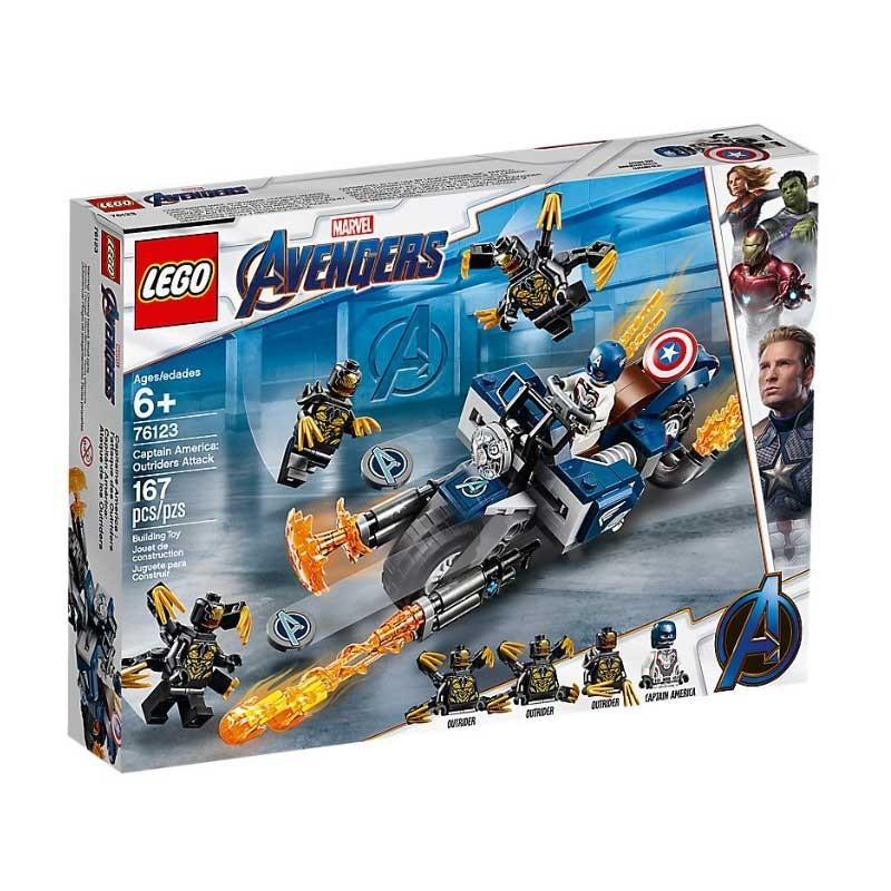 Lego 76123. Capitán América: Ataque de los Outriders