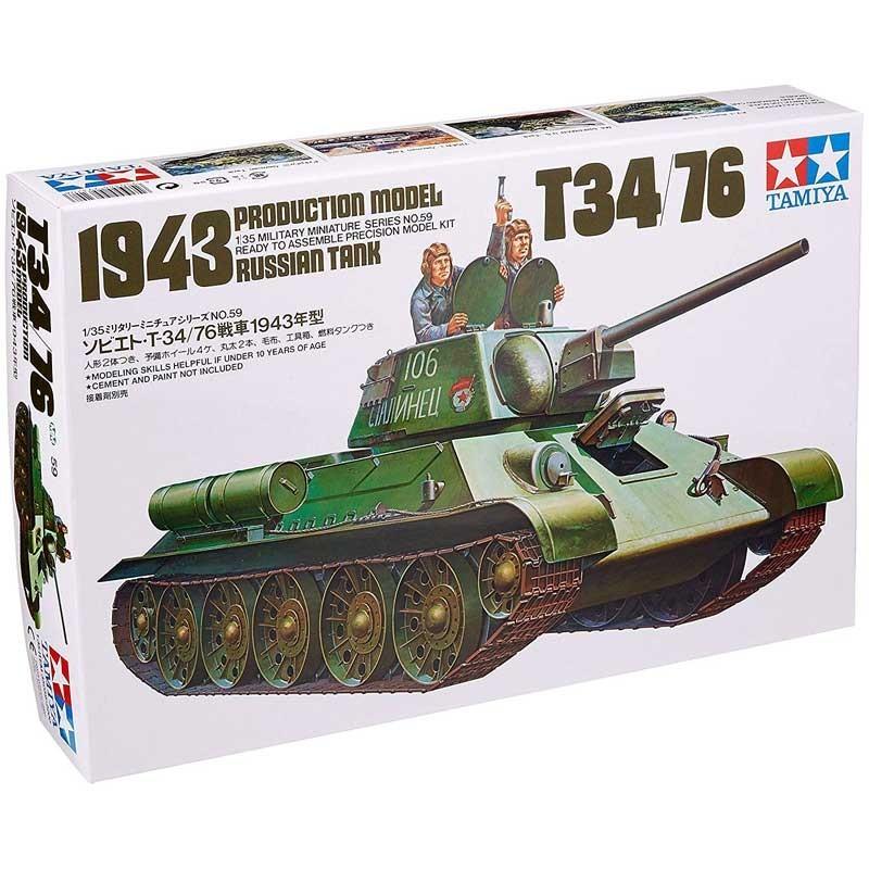 Tamiya 35059. 1/35 Tanque T34/76 1943